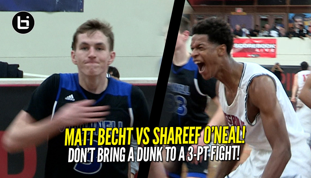 Matt Becht Rains Down 5 Threes In One Quarter Vs Shareef O'Neal!
