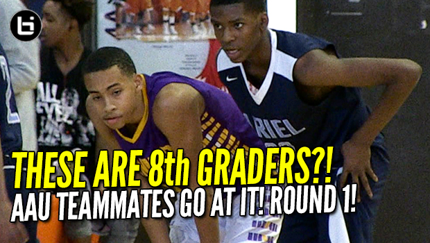 These Are 8th Graders?! Big East commit Amari Bailey v Jaylen Drane. Intense Round 1!