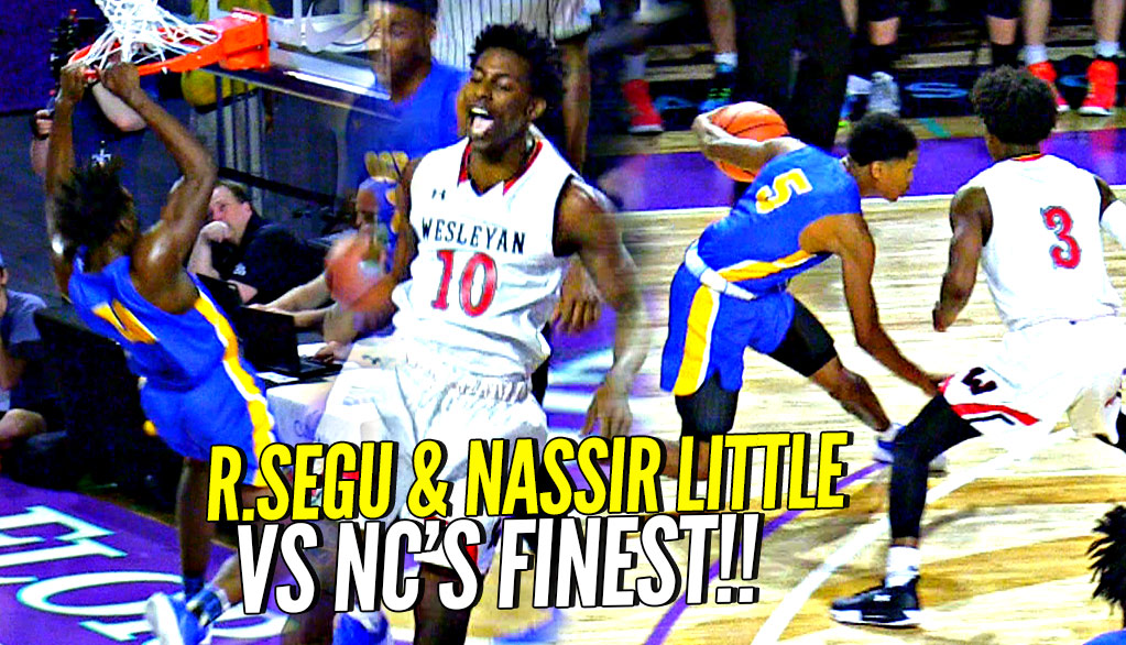 #JAMFAM Nassir Little RIPS RIMS In Front of UNC Coach Roy Williams!! OCP vs NC's FINEST Wesleyan!