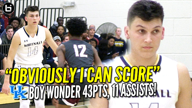 """OBVIOUSLY I CAN SCORE!"" KENTUCKY commit Tyler Herro scores 43 Points, 11 Assists! Full Highlights!"