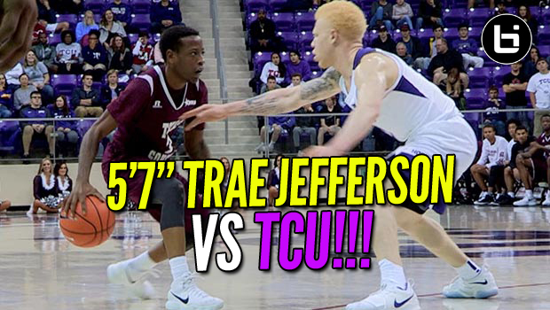 """STILL BALLISLIFE BABY!"" 5'7″ Trae Jefferson VS TCU Full Highlights"