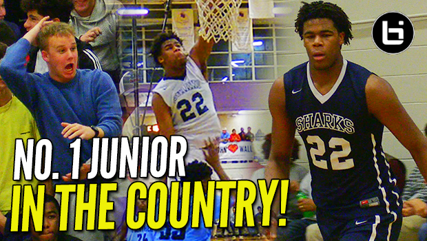 """Blue Blood Battle!"" No. 1 Vernon Carey Jr. SHOWS OUT in Front of Coach K & Roy Williams!"