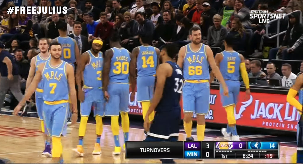 Luke Walton Benches All Starters After Being Down 0-14 To Wolves, Lonzo-Less Lakers Lose Again!