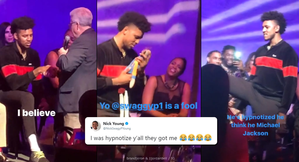 Nick Young Gets Hypnotized at JaVale McGee's Birthday Party, Dances With A Puppet & Turns Into Michael Jackson