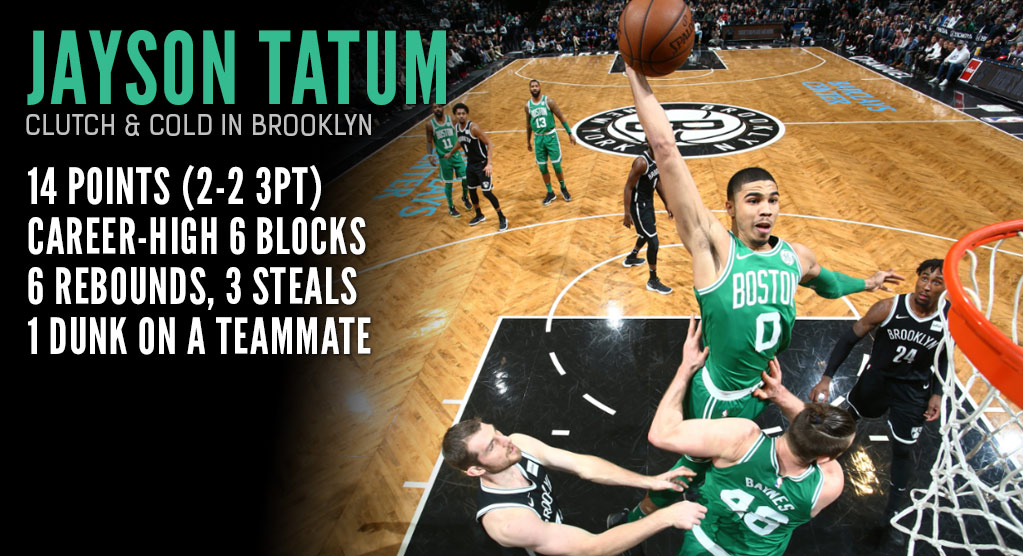 Not Even Teammates Are Safe From Jayson Tatum Dunks