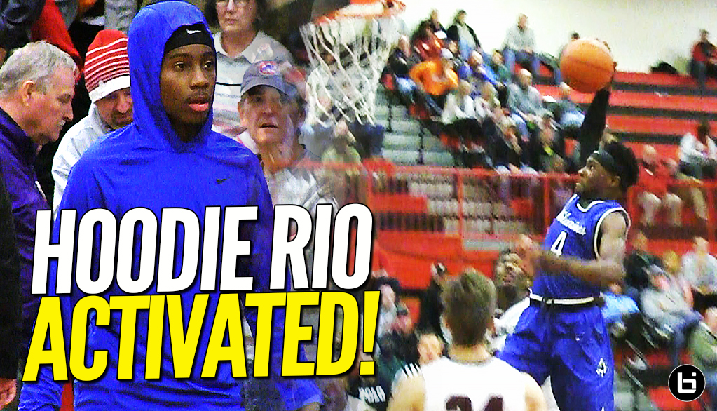HOODIE RIO ACTIVATED!! Mario Mckinney Leads Team Over Champaign Central at Highland Shootout!