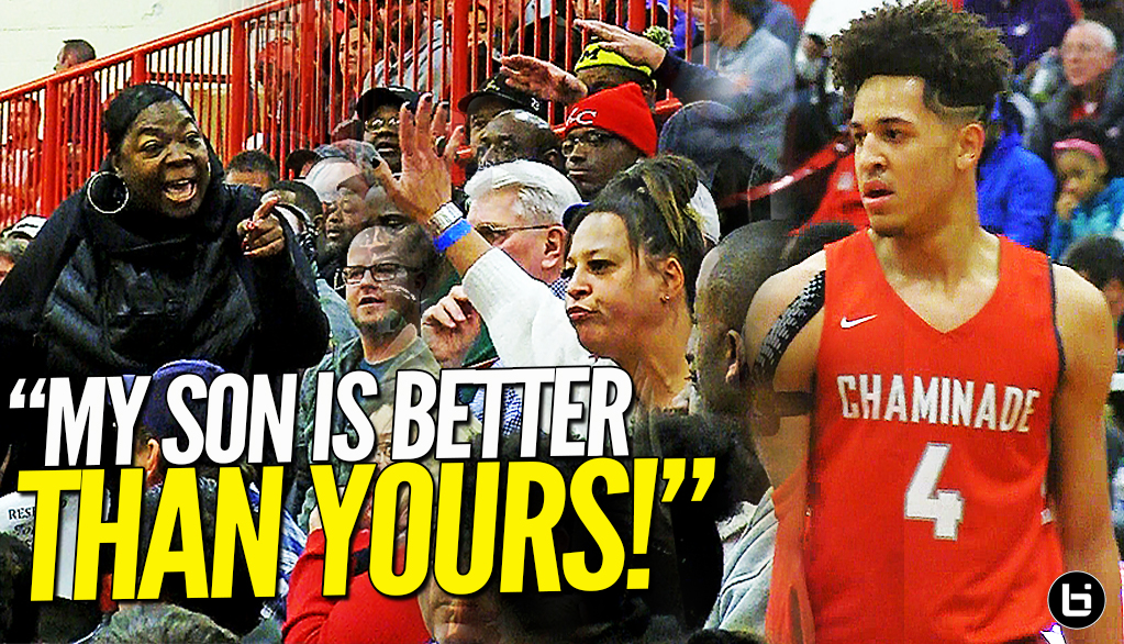 MOMS TALKIN' THAT S**T!! Saint Louis Chaminade Responds to Chicago Morgan Park at Highland Shootout!