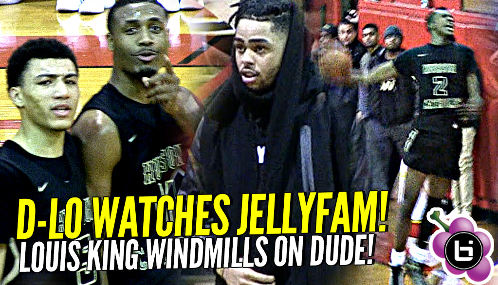 D'angelo Russell Watches Jelly Fam! Louis King Windmills on Defender's Head! New Jersey's Top Team?!