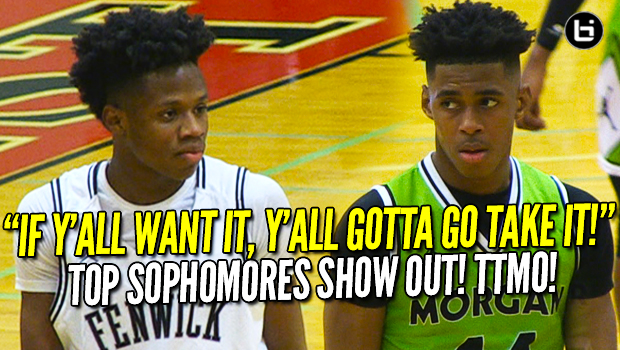 When The Best Players on the Floor are Just SOPHOMORES! Adam Miller vs DJ Steward! Morgan Park vs Fenwick Full Highlights! TTMO!