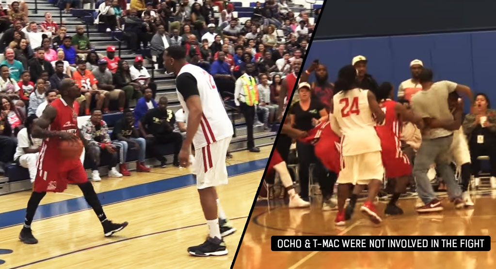 Fight Breaks Out At Celebrity Game Feat. T-Mac & Ochocinco