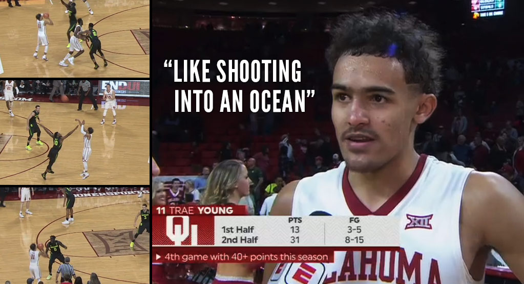 Trae Young Goes Off, Scores 31 of 44 Points In 2nd Half Vs Baylor