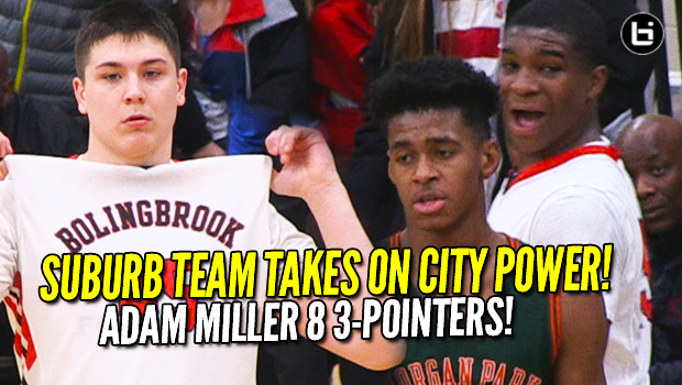 Can Suburban Team Beat City Power?! Super Soph Adam Miller 30 Points! Morgan Park v Bolingbrook Highlights!