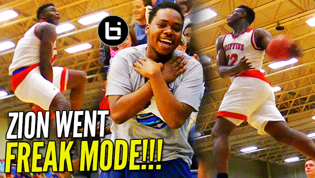 360 BETWEEN THE LEGS IN GAME?! Zion Williamson GOES FREAK MODE in Semi-Finals!