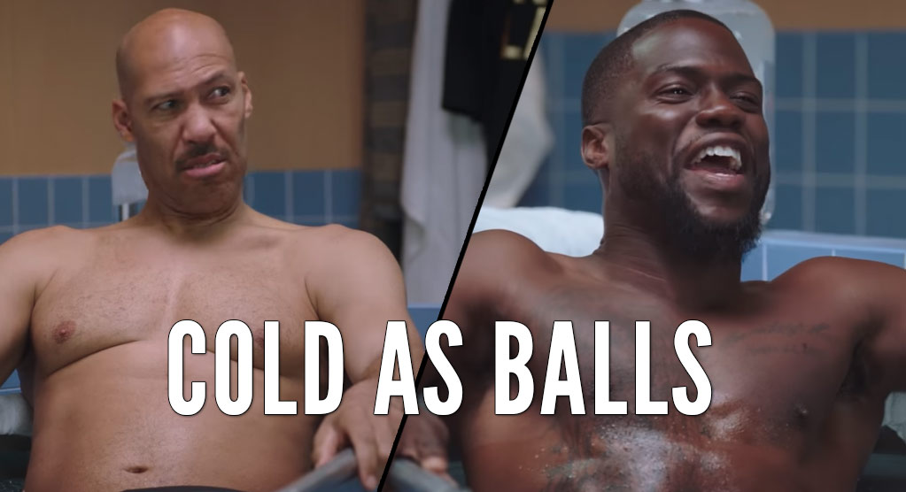 Kevin Hart & LaVar Ball Talking $#*t While Taking An Ice Bath