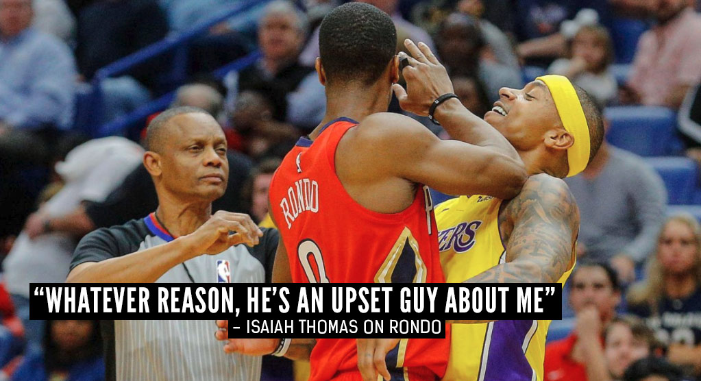 Isaiah Thomas Talks About Rajon Rondo After Their Altercation & Ejections