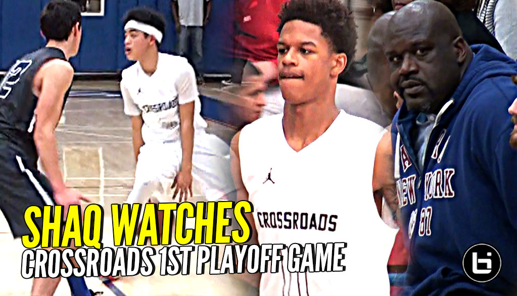 Shaq Watches Shareef, Yuuki & DJ BALL OUT! Shareef Wearing KOBE'S in First Playoff Game!!