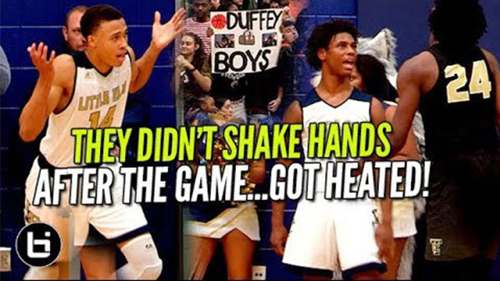 THEY DIDN'T SHAKE HANDS AFTER THE GAME! RJ Hampton Goes Off!