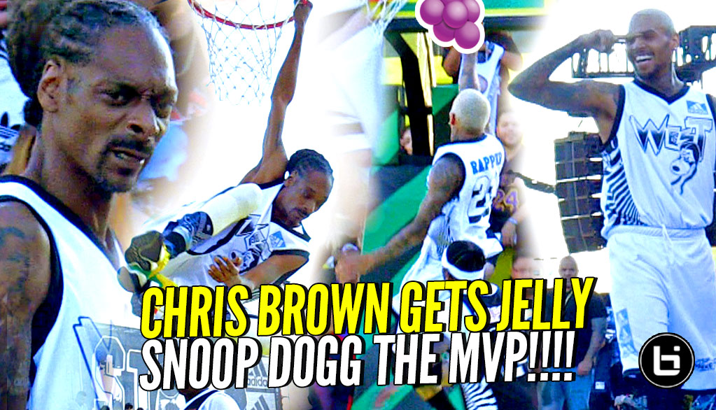 Snoop Dogg & Chris Brown SHUT IT DOWN! Snoop 25 REBOUNDS & MVP! Hilarious Commentary By Mike Rapaport