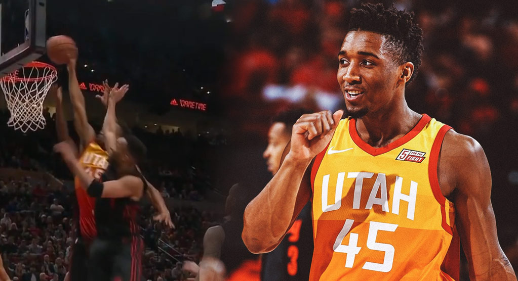 Donovan Mitchell Doing His Best Dominique Wilkins Impersonation For Utah