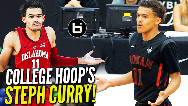 "College Hoops' ""STEPH CURRY"": Trae Young THROWBACK Footage! Nation's LEADER in PPG & APG!"