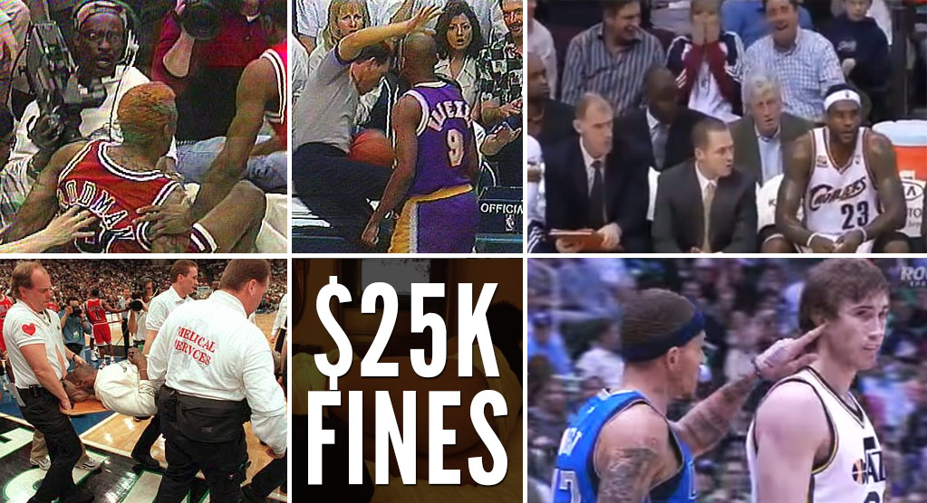 The Craziest $25,000 Fines In NBA History