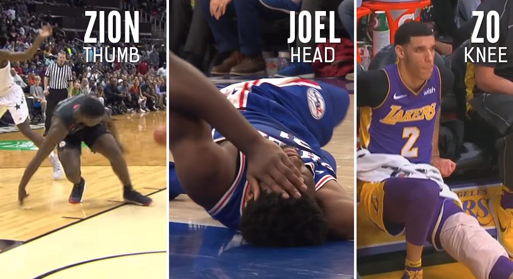FU Injuries: Joel Embiid, Lonzo Ball & Zion Williamson Injured On The Same Night!