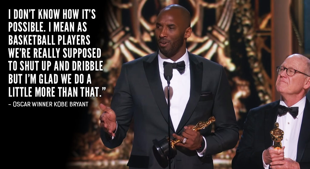 NBA Players & The Internet React To Kobe Bryant's Controversial Oscar Win