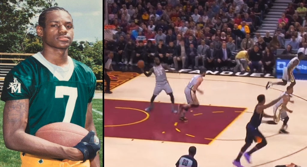 LeBron James Showed Off His Football Skills Against The Suns