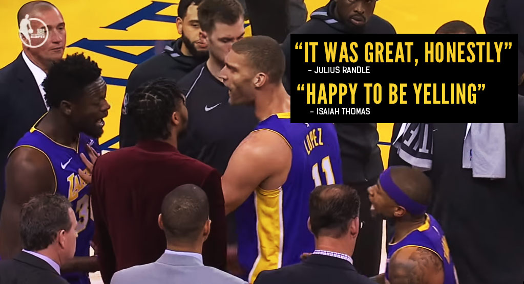 Julius Randle & Isaiah Thomas On Their Heated Exchange During A Timeout