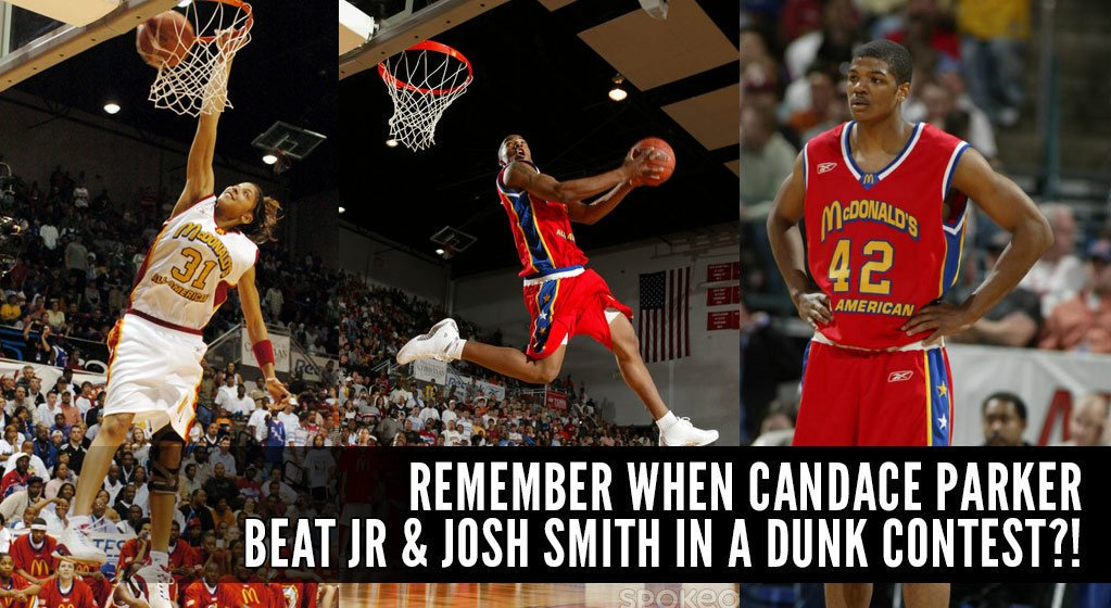Remember When Candace Parker Beat Josh & JR Smith In The McDonalds Dunk Contest?