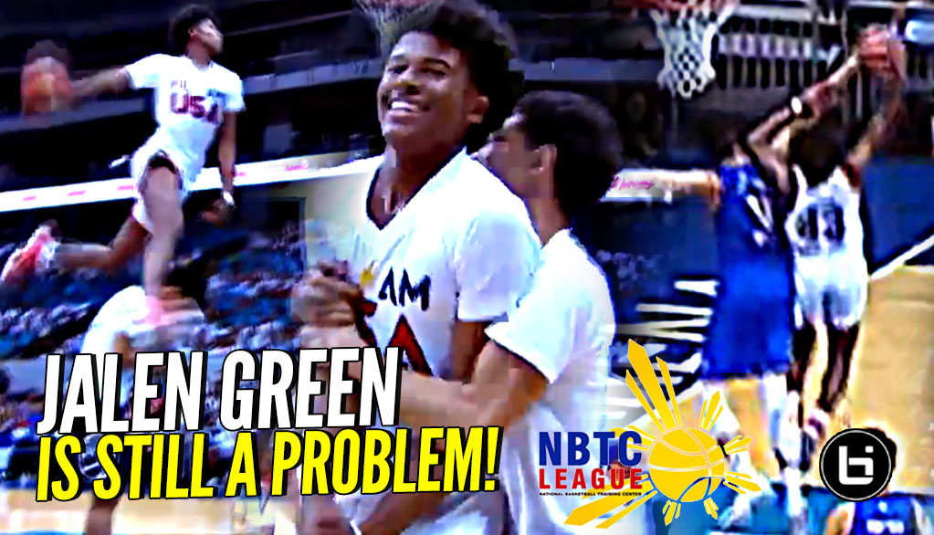 DON'T JUMP w/ Jalen Green! DESTROYS 7 Footer In Game then Casually DESTROYS Dunk Contest! #NBTC2018