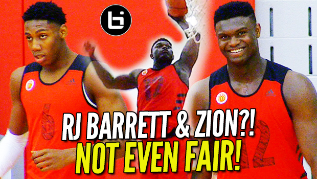 Zion Williamson LOOKIN' SLIM at McDonalds All American Practice! Day 1 Highlights!