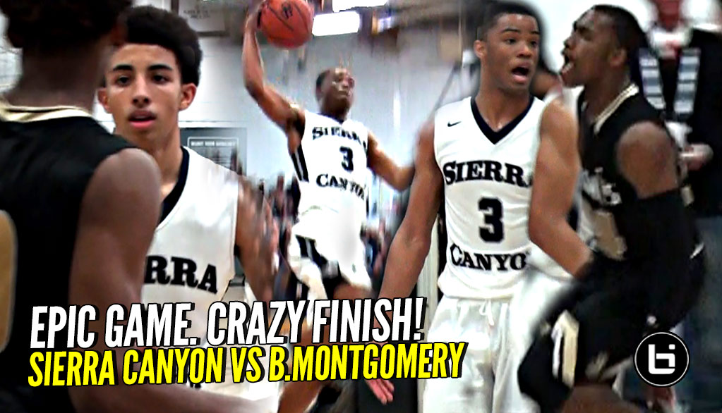 NBA LEGENDS Witness EPIC Playoff COMEBACK!! Sierra Canyon vs Bishop Montgomery! CRAZY ENDING!