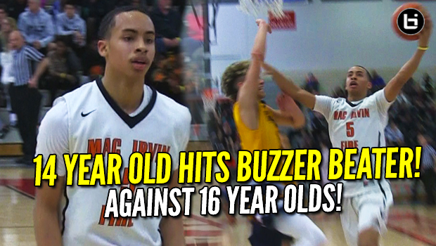 14 Year Old Amari Bailey Sinks Clutch Game Winning 3 vs 16 Year Olds at Swish N Dish! Full Highlights!