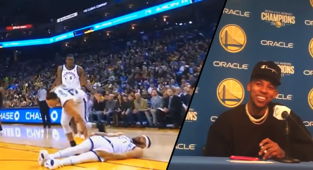 Steph Curry Returns Then Leaves Game With A MCL Injury After JaVale McGee Fell Into Him