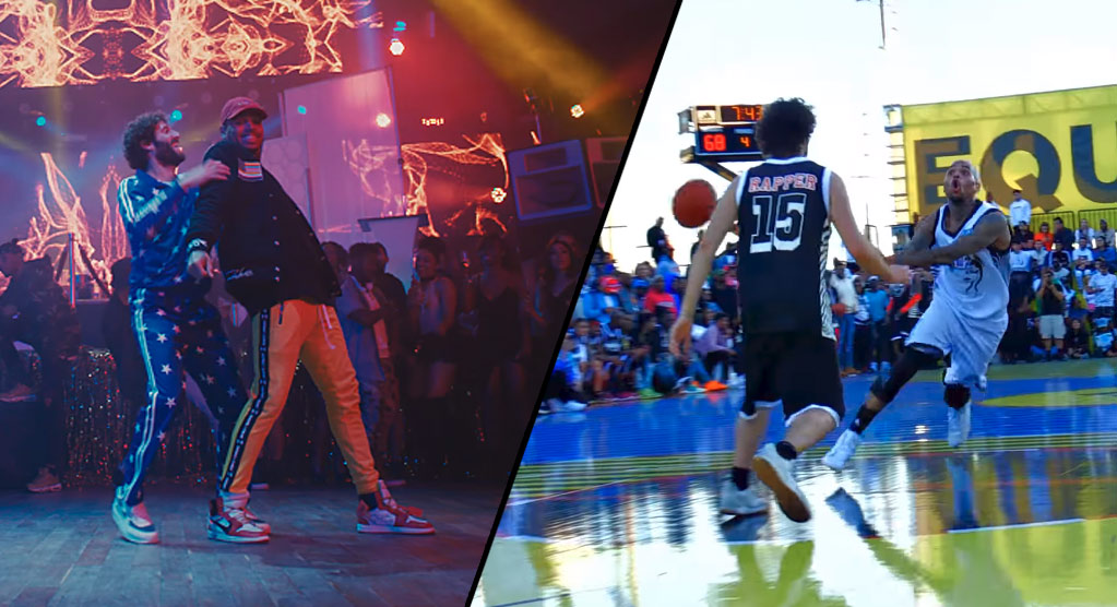 Lil Dicky & Chris Brown's New Hilarious Video + Best Basketball Highlights