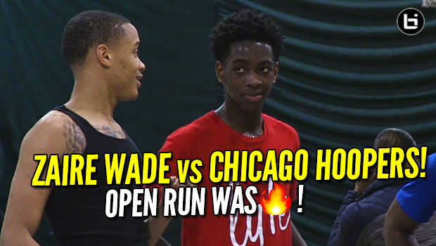 Zaire Wade vs Chicago! Dwyane Wade's Son Open Run Basketball Highlights!