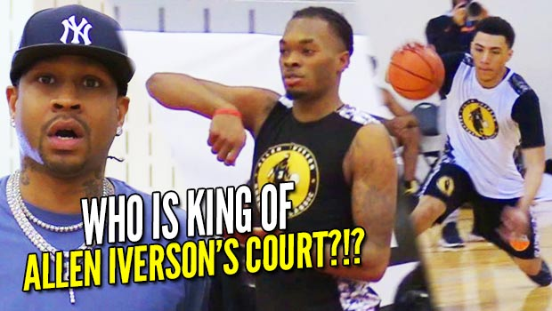 Allen Iverson Holds 1 on 1 KING OF THE COURT with Jelly Fam JQ, Kevin Porter, Aaron Wiggins & More!!