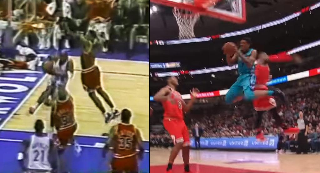 Better Double-Pump Dunk Vs The Bulls: Malik Monk or Isaiah Rider?