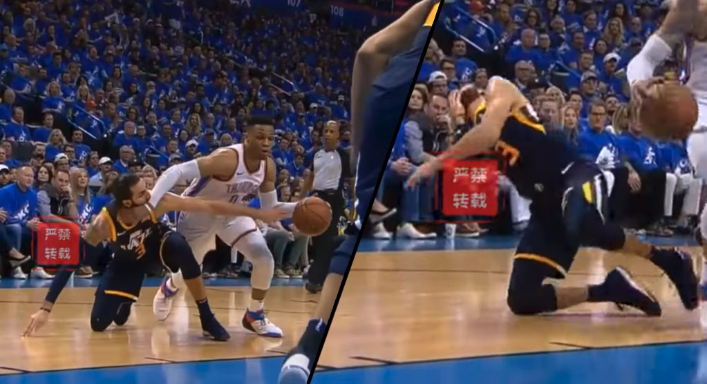 Ricky Rubio Flops After Getting Hit Multiple Times By Westbrook
