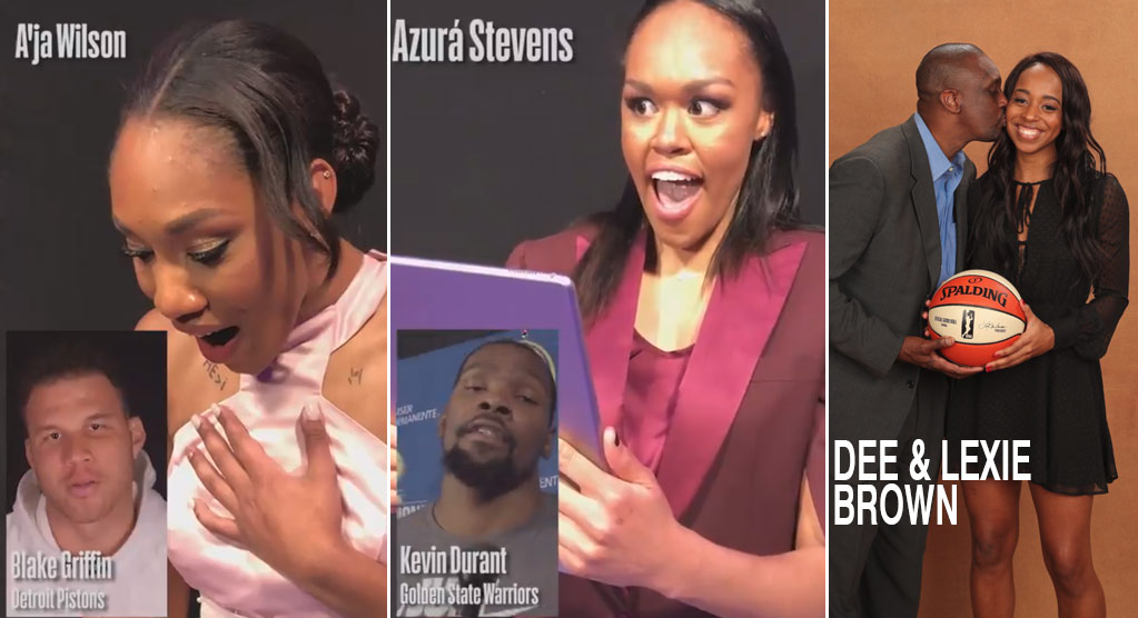 Blake Griffin & Kevin Durant Surprise Top Picks In The WNBA Draft