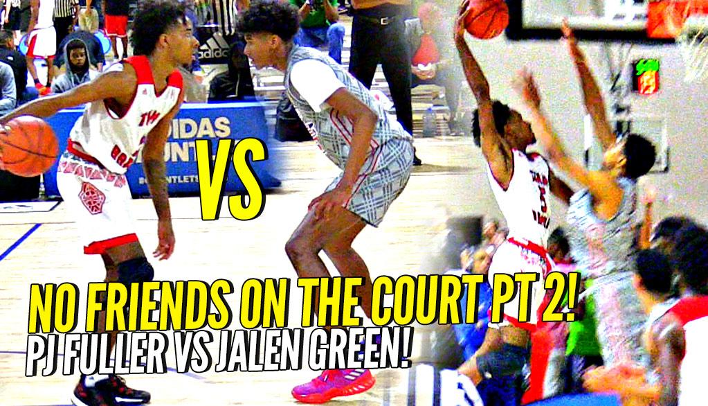 Future McDonald's All Americans Jalen Green vs PJ Fuller BATTLE!! NO FRIENDS On The Court Part 2!