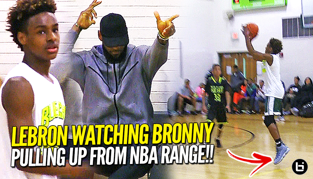 Lebron James Watching Bronny Jr Before Game 7! North Coast Blue Chips Dominates at Dru Joyce Classic