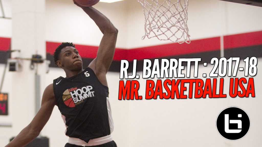 R.J. Barrett Named Mr. Basketball USA!