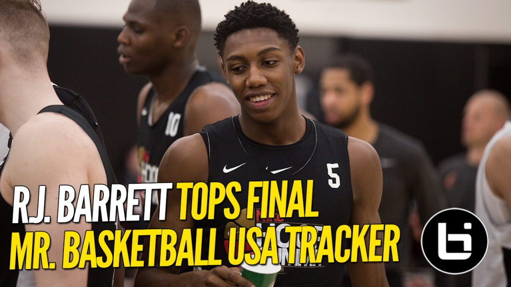 R.J. Barrett TOPS Final POY Tracker!