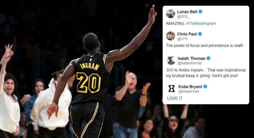NBA Reacts To Andre Ingram's NBA Debut