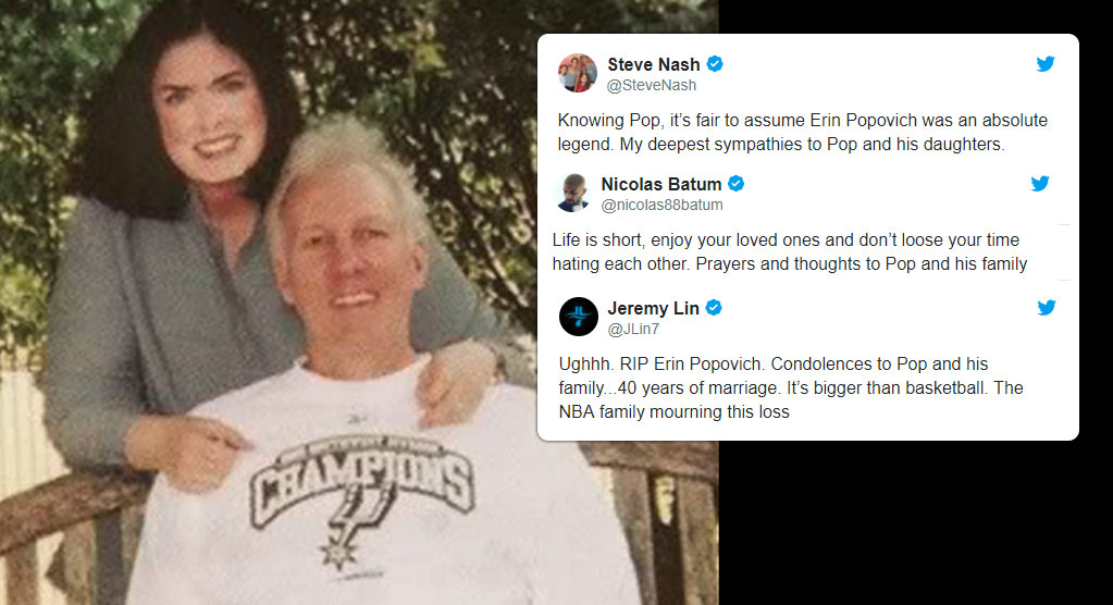 The NBA Family Mourns The Loss Of Erin Popovich