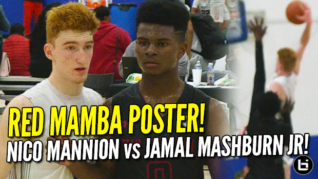 Red Mamba POSTER DUNK! Nico Mannion vs Jamal Mashburn Jr.! 2018 UAA Highlights