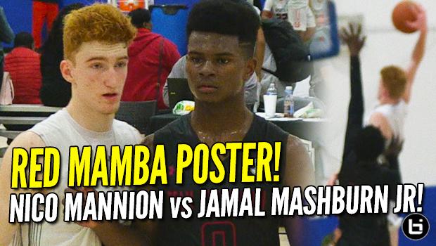 Red Mamba POSTER DUNK! Nico Mannion vs Jamal Mashburn Jr.! 2018 UAA Highlights