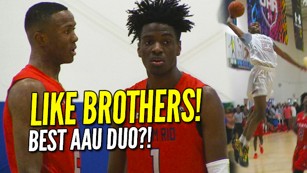 LIKE BROTHERS! Scottie Lewis, Bryan Antoine are AAU Basketball's BEST DUO! UAA Highlights!